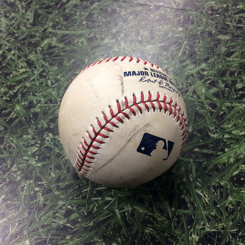 Photo of Game-Used Baseball PIT@MIL 06/19/17 - Gerrit Cole to Travis Shaw: Foul Ball