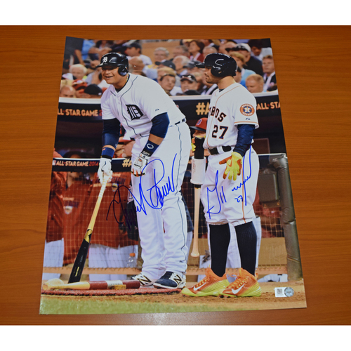 Photo of Miguel Cabrera and Jose Altuve Autographed 11x14 Photograph (Altuve Autograph Not Authenticated by MLB)