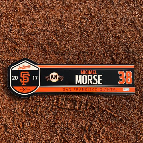 Photo of San Francisco Giants - HOLIDAY STEALS - 2017 Locker Tag - 2017 Regular Season - #38 Michael Morse