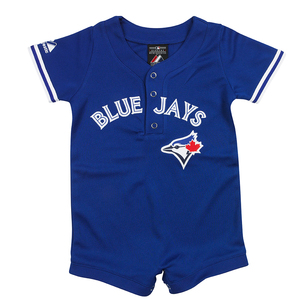 Toronto Blue Jays Newborn/Infant Alternate Jersey Romper by Majestic