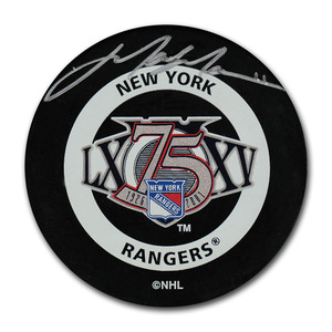 Mark Messier Autographed New York Rangers 75th Anniversary Puck
