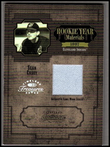 Photo of 2005 Timeless Treasures Rookie Year Materials Year #35 Sean Casey Jsy/25