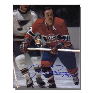 Yvan Cournoyer Autographed Montreal Canadiens 8x10 Photo