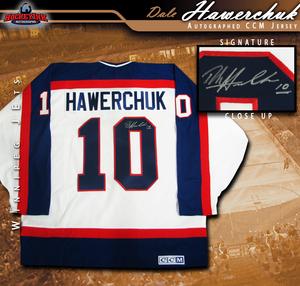 DALE HAWERCHUCK Signed Winnipeg Jets CCM Jersey