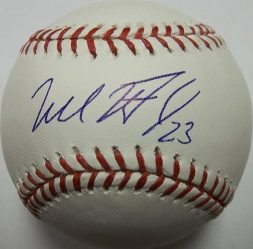 Photo of Michael Brantley Autographed Baseball