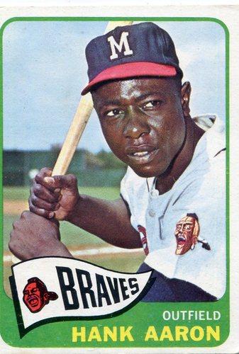Photo of 1965 Topps #170 Hank Aaron -- Braves Hall of Famer
