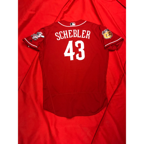 Photo of Scott Schebler -- Team-Issued Jersey -- 2017 Spring Training