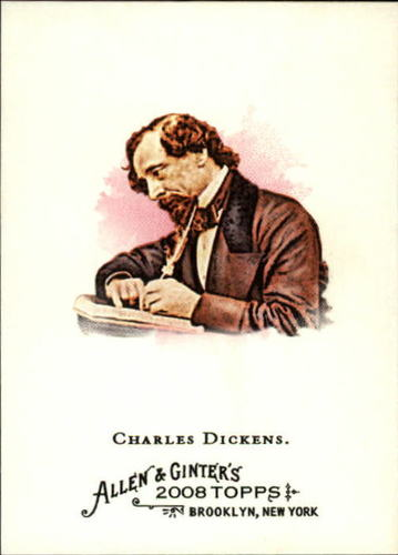 Photo of 2008 Topps Allen and Ginter #219 Charles Dickens