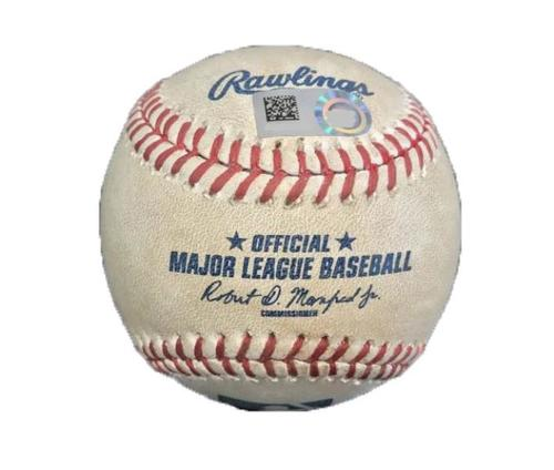 Photo of Game-Used Baseball from Pirates vs. Astros on 8/22/16 - Taillon to Bregman, Pitch in the Dirt