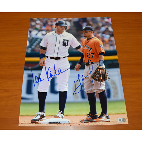 Photo of Ian Kinsler and Jose Altuve Autographed 11x14 Photograph (Altuve Autograph Not Authenticated by MLB)