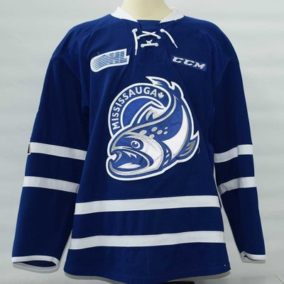 Cole Carter Blue 2017-18 Game Worn Jersey