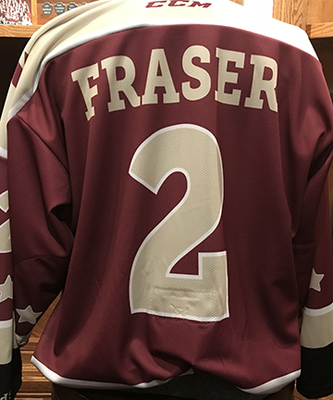 Cole Fraser (#2) - Game-Worn Petes Alumni Homecoming Jersey