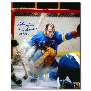 Glenn Hall St. Louis Blues BIG SAVE Autographed 8x10