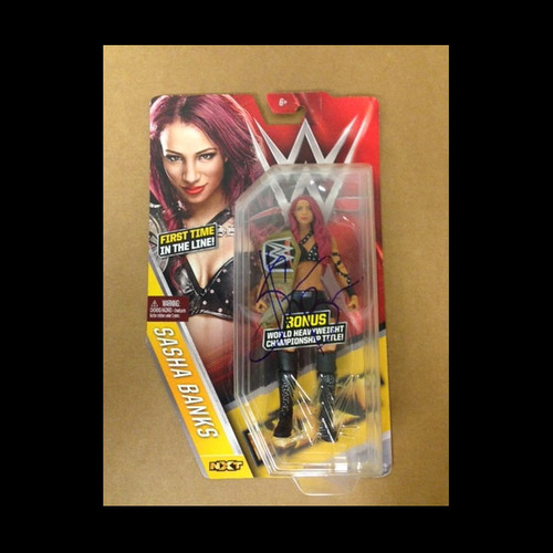 Photo of Sasha Banks SIGNED Series 59 Figure (with Bonus Title)