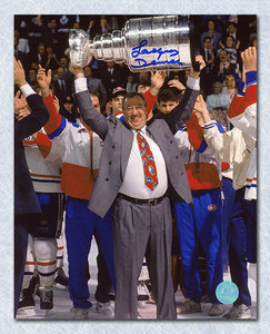 Jacques Demers Montreal Canadiens Autographed Stanley Cup 8x10 Photo