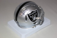 RAIDERS - RASHAD JENNINGS SIGNED RAIDERS MINI HELMET
