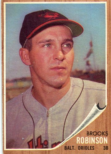 Photo of 1962 Topps #45 Brooks Robinson -- Hall of Famer
