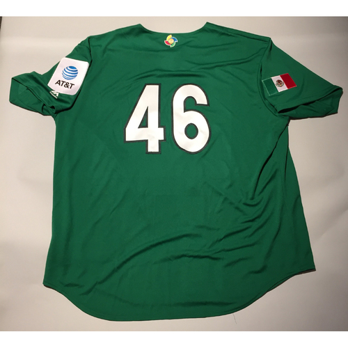 Photo of 2017 WBC: Mexico Team-Issued Batting Practice Jersey, Oliver Perez #46