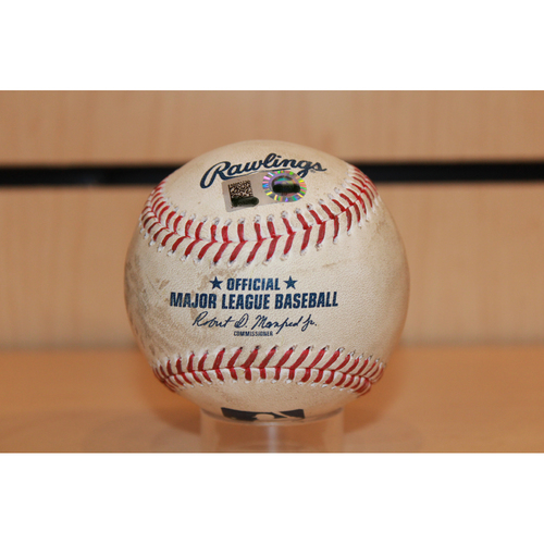 Photo of Game-Used Miguel Cabrera Single: Top 2nd Inning (7/18/17 DET at KC) (3 hits shy 2600 for career)
