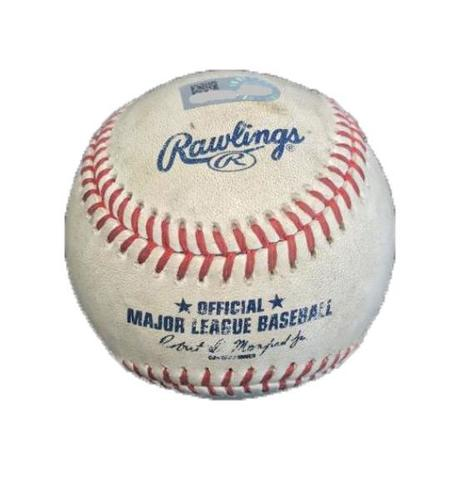 Photo of Game-Used Baseball from Pirates vs. Yankees on 4/22/17 - Pineda to Polanco, 2 Pitches