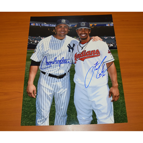 Photo of Francisco Lindor and Carlos Beltran Autographed 11x14 Photograph - Not Authenticated by MLB
