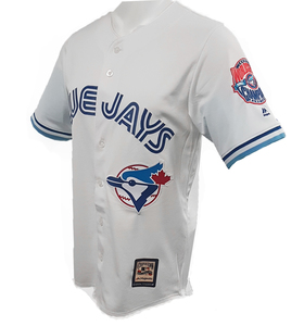 Toronto Blue Jays Cooperstown Back 2 Back World Series Cool Base Replica Jersey by Majestic