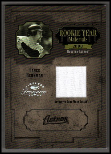 Photo of 2005 Timeless Treasures Rookie Year Materials Year #41 Lance Berkman Jsy/100