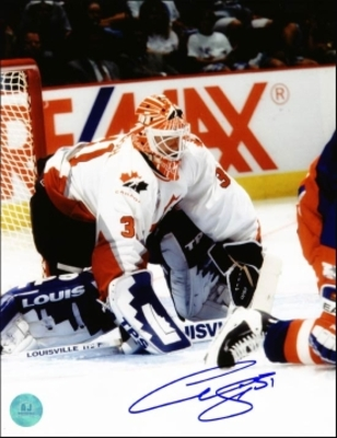 CURTIS JOSEPH Team Canada SIGNED 8x10 Photo Olympic Photo