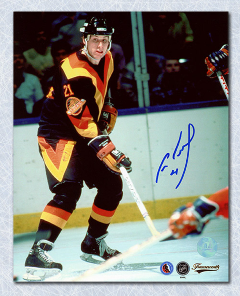 Cam Neely Vancouver Canucks Autographed Rookie 8x10 Photo