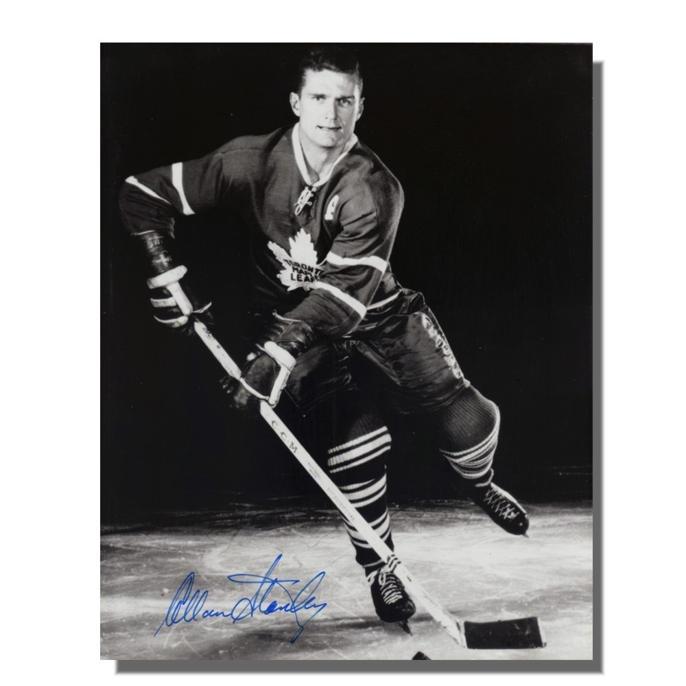 Allan Stanley (deceased) Autographed Toronto Maple Leafs 8x10 Photo