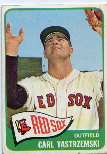 Photo of 1965 Topps #385 Carl Yastrzemski -- Red Sox Hall of Famer