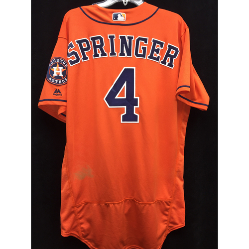 Photo of 2016 Game-Used George Springer Los Astros Jersey