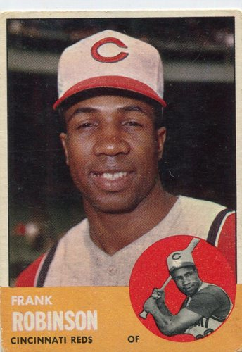 Photo of 1963 Topps #400 Frank Robinson -- Hall of Famer