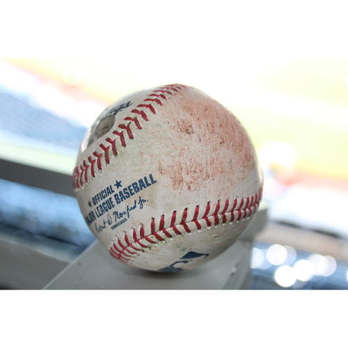 Photo of Game-Used Baseball: Adeiny Hechavarria 33rd Career Triple (TB at KC - 8/28/17)