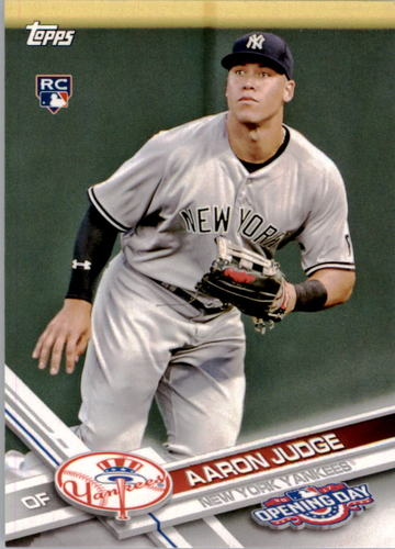 Photo of 2017 Topps Opening Day #147A Aaron Judge Rookie Card -- Yankees post-season