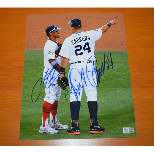 Photo of Francisco Lindor and Miguel Cabrera Autographed 8x10 Photograph (Lindor Autograph Not Authenticated by MLB)