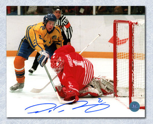 Peter Forsberg Team Sweden Autographed 1994 Olympic Gold Medal Goal 8x10 Photo *Colorado Avalanche*