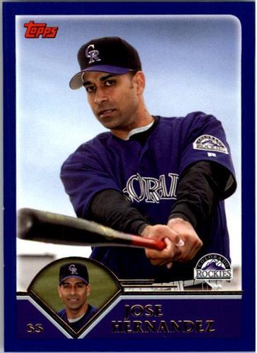 Photo of 2003 Topps #502 Jose Hernandez