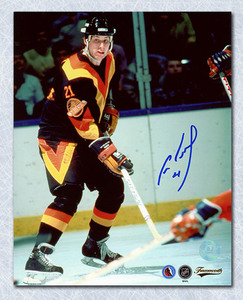 Cam Neely Vancouver Canucks Autographed Rookie 16x20 Photo *Boston Bruins*