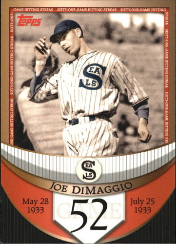 Photo of 2007 Topps DiMaggio Streak Before the Streak #JDSF52 Joe DiMaggio
