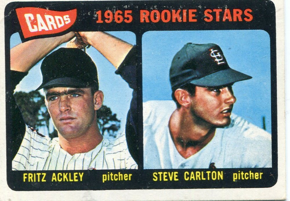 1965 Topps #477 Rookie Stars/Fritz Ackley/Steve Carlton Rookie Card