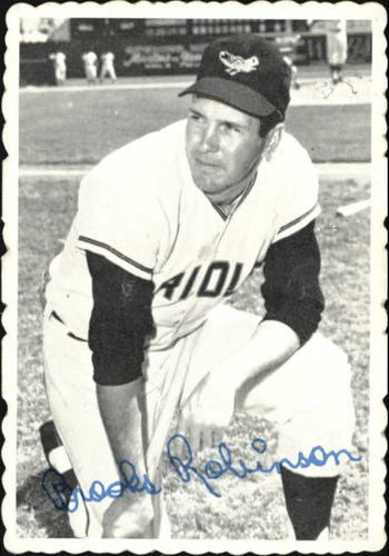 Photo of 1969 Topps Deckle Edge #1 Brooks Robinson