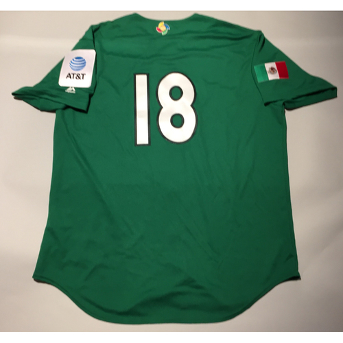 Photo of 2017 WBC: Mexico Team-Issued Batting Practice Jersey, Roberto Osuna #18