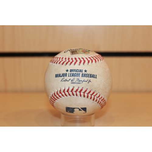Photo of Game-Used Miguel Cabrera Single: Top 5th Inning (7/18/17 DET at KC) (3 hits shy 2600 for career)