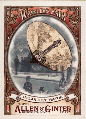 Photo of 2017 Topps Allen and Ginter World's Fair #WF13 Solar Generator/Exposition Universelle
