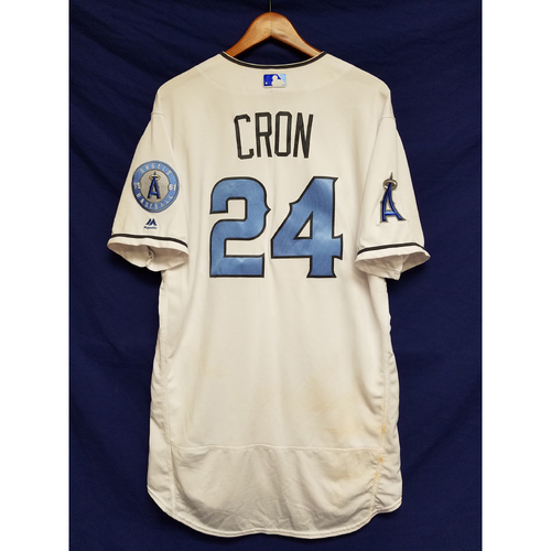 Photo of CJ Cron Game-Used Blue Fathers Day Jersey