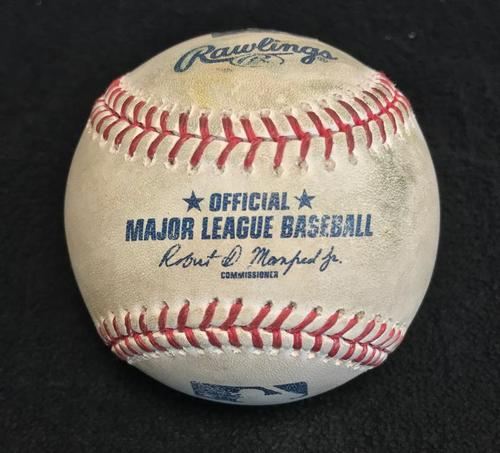 Photo of Game-Used Baseball from Pirates vs. Cubs on 4/24/17 - Almora Jr. Double, Bryant Single, Rizzo Foul