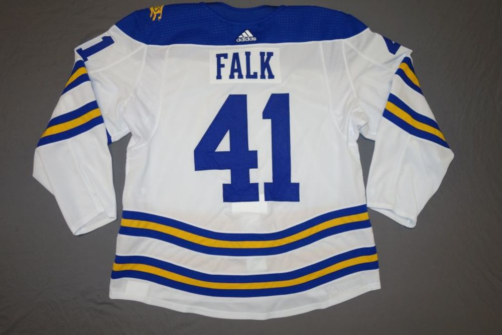 Justin Falk Buffalo Sabres 2018 Winter Classic Team-Issued Jersey