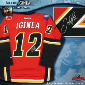 JAROME IGINLA Signed Calgary Flames Red Reebok Jersey