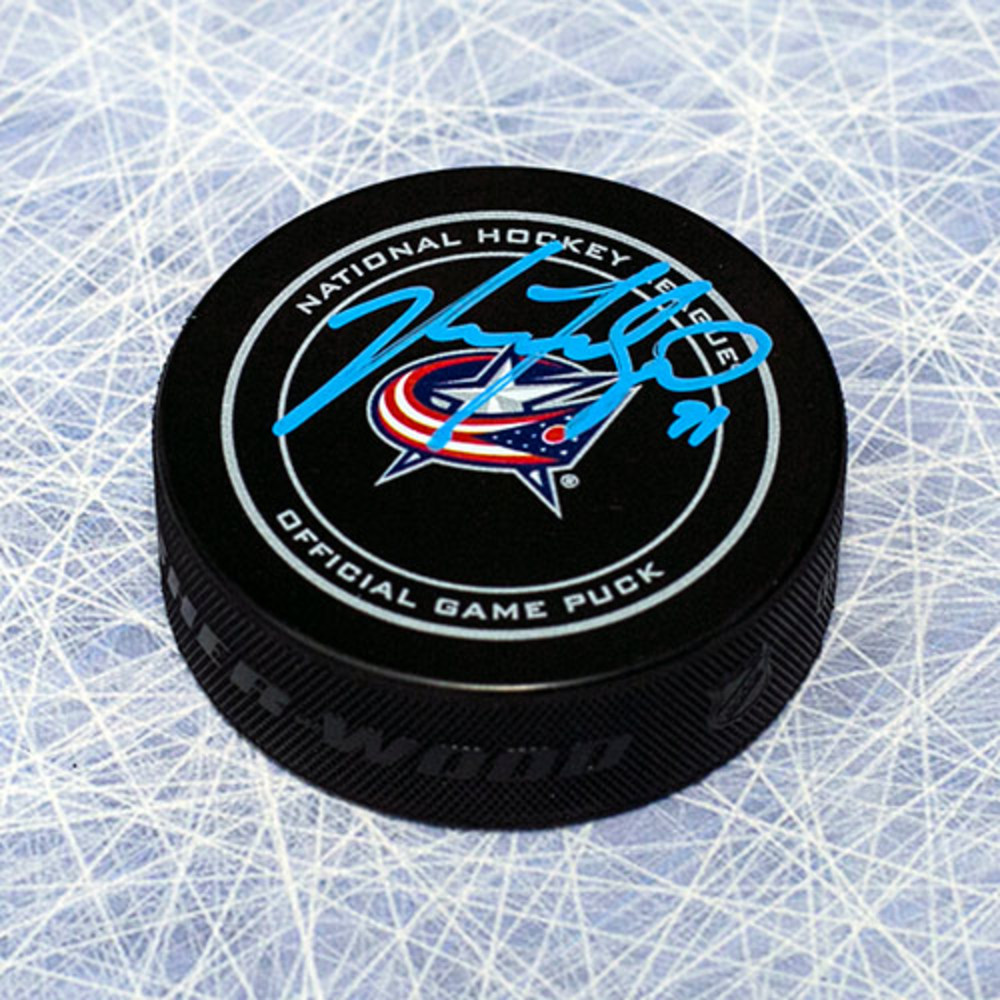 Nick Foligno Columbus Blue Jackets Autographed Official Game Puck